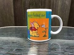 Disney Winnie The Pooh Piglet Coffee Mug Tea Cup Happy Being Me Collectible $$$ | eBay