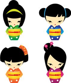 more ideas for Kokeshi Dolls