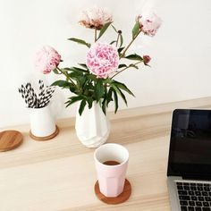 tifmys - Pretty peonies & coffee.