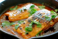 Salmon in a Spicy Garlic Tomato Sauce - seriously flavorsome.