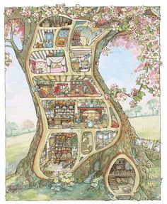 Jill Barklem Brambly Hedge picture book illustrations.