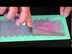 Como hacer puntilla comestible paso a paso | Trucos de Mundo Pastel - YouTube
