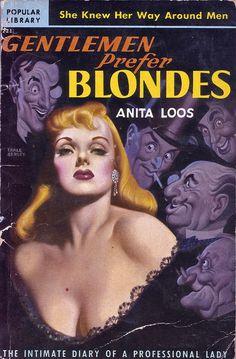 """Gentlemen Prefer Blondes"" art by Earle Bergey"