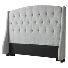 Roma Tufted Wingback Headboard - we love this sweet sophistication of this headboard and think it'd be perfect for a little girl's room! Totally in budget, too.
