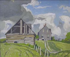 Alfred Joseph Casson - Farmhouse Near Tripp Lake, Lake Baptiste Tom Thomson, Emily Carr, Group Of Seven Artists, Group Of Seven Paintings, Canadian Painters, Canadian Artists, National Art, Landscape Paintings, Impressionist Landscape