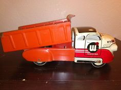 Dump Truck, Toy Trucks, Antique Toys, Tin, Steel, Ebay, Vintage, Old Fashioned Toys, Pewter