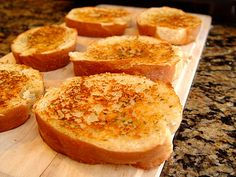 Easy Grilled Garlic Bread made with fabulous french bread recipe