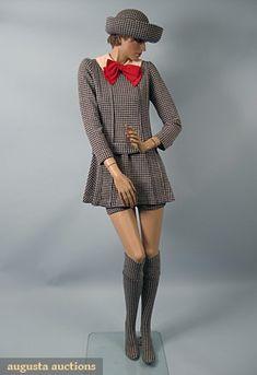 Gernreich Wool Mini-dress Ensemble, 1960s, Augusta Auctions, October 2006 Vintage Clothing & Textile Auction, Lot 928