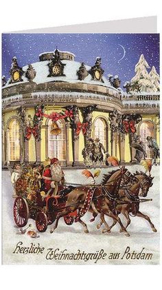 Potsdam Christmas card made in Germany