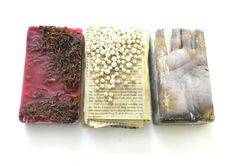 Transmitter. various materials including wax, moss, book pages, beads, concrete. Ines Seidel
