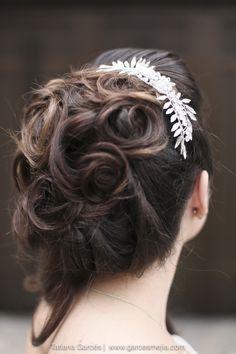 Peinado para novia, hairstyle - bridal - wedding - boda