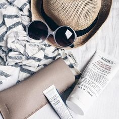 Sunny, with a side of radiant skin. What are you getting into this weekend? Flat Lay Photography, Kiehls, Radiant Skin, Skin Care, Summer 2016, Hair, Content, Beauty, Future