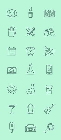 Line Icons - Free! on Behance
