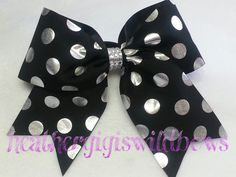 Hey, I found this really awesome Etsy listing at https://www.etsy.com/listing/193887764/cheer-hair-bow-polka-dots