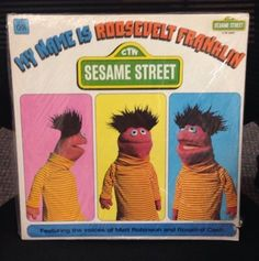 Sesame Street My Name Is Roosevelt Franklin Vinyl Record. New Factory Sealed