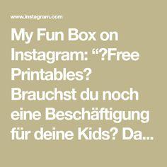 """My Fun Box on Instagram: """"🖨Free Printables🖨 Brauchst du noch eine Beschäftigung für deine Kids? Dann druck es dir einfach zu Hause aus☺️ link in Bio👀"""""""