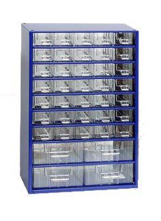závěsná skříňka, box organizér na šroubky - Biedrax 6143 modrá, standardní provedení