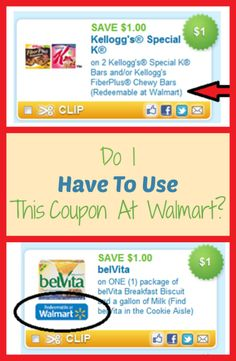 """People often have asked """"Do I have to use this printable coupon at Walmart, just because it has Walmart on it?"""""""