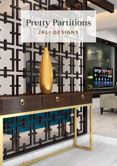 Latch on to the trend and get a jali partition for your home! Partition Design, Foyer Decorating, Grill Door Design, Home Decor, House Interior, Home Decor Hacks, Home Decor Tips, Room Partition, Interior Decorating