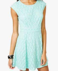 A-Line Eyelet Dress | FOREVER 21 - 2000049041