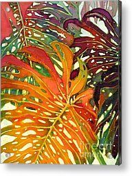Palm Patterns 2 Acrylic Print by Deborah Younglao
