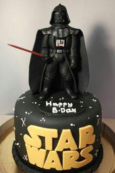 Darth Vader #cake. #Starwars #sugarpaste cake