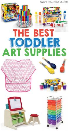 Best List I've Seen! 16 Art Supplies For Toddlers You Shouldn't Be Living Without! #daycaresupplies