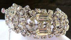 Vintage signed KRAMER of NY 1950s rhinestone by cherrylippedroses, $225.00