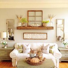 Rustic Living Rooms, Living Room Walls, Living Room Ideas, Dining Rooms,  Coastal Farmhouse, Farmhouse Decor, Farmhouse Style, Decor Room, House  Building