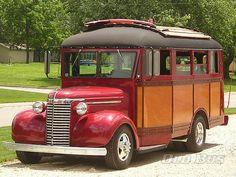 Custom 1940 Wayne Chevy Woody Former School Bus
