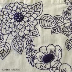 """YUMIKO HIGUCHI刺繍制作記録""是YUMIKO的个人博客,记录她的刺绣生活"