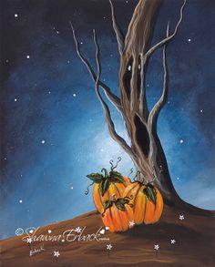 Creepy Gothic Tree FINE ART PRINT by Shawna Erback by shawnaerback, $10.00