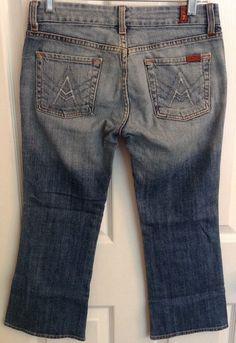 7 Seven for All Mankind Crop A Pocket Jeans 26 Capri | eBay