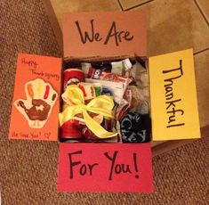 Deployment Care Package: I just finished up this Thanksgiving Box for Aron! Complete with a Deployment Care Package: I just finished up this Thanksgiving Box for Aron! Complete with a Missionary Care Packages, Deployment Care Packages, College Care Packages, College Care Package For Girls, Missionary Farewell, Thanksgiving Care Package, Thanksgiving Gifts, Homemade Gifts, Diy Gifts