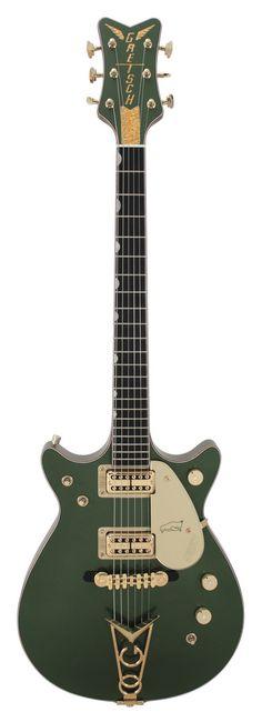 Gretsch Masterbuilt 62 Penguin Cadillac Green Double Cutaway Custom Shop | Rainbow Guitars
