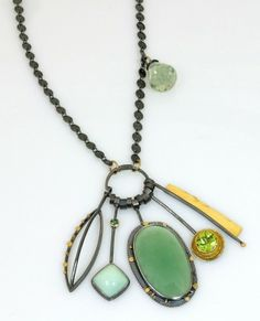 Sydney Lynch - Mint Green Cluster Necklace