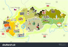 Find Map Slovakia Landmarks stock images in HD and millions of other royalty-free stock photos, illustrations and vectors in the Shutterstock collection. Social Media Logos, Travel Maps, Map Art, New Pictures, Royalty Free Photos, Geography, Education, Illustration, Anna