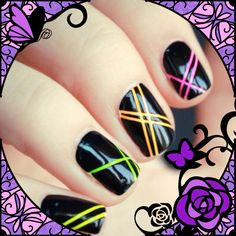 Neon nails for those Daft Punk beats! #nailart #nails