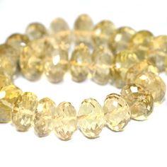 Citrine Faceted Rondelles 4 Large Golden by SerendipityGemstones