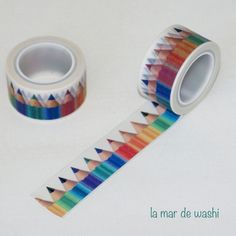 Perfect for art school Tape Crafts, Diy Crafts, Washi Tape Storage, Washi Tape Planner, Masking Tape, Washi Tapes, Stationery Pens, Paper Crafts Origami, Tapas