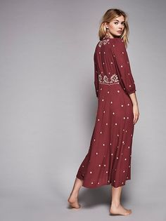 Megan Williams || FP Collection Embroidered Fable Dress (Fig Combo)