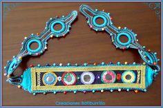 Cinturón o turbante indio: Bordado y crochet   Aprender manualidades es facilisimo.com