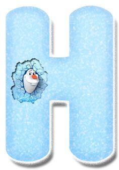 CH.B *✿* Frozen Font, Frozen Movie, Frozen Theme, Frozen Party, Monogram Alphabet, Alphabet And Numbers, Plastic Canvas Tissue Boxes, Plastic Canvas Patterns, Disney Font Free