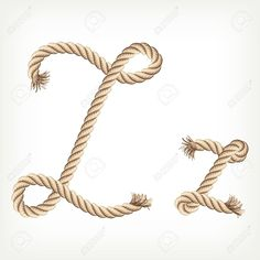 Typography - Rope Alphabet  - Letter Z