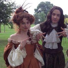 Cast of Versailles - Alexander Vlahos as Monsieur Philippe Duc D'Orleans & Sarah Winter as Louise de la Vallière