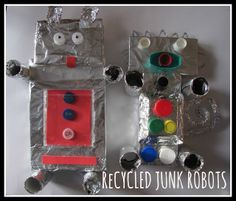 The Chocolate Muffin Tree: Recycled Junk Robots