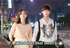 Lee Jong Suk in I Can Hear Your Voice gif.