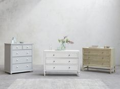 Popinjay chest of drawers, Pimpernel chest of drawers, Willow chest of drawers Painted Bedroom Furniture, Wood Chest, Top Drawer, Chest Of Drawers, Solid Wood, Cottage, House, Collection, Design