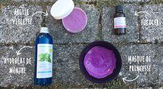 Un joli masque visage purifiant et effet bonne mine pour tous types de peaux, même sèches et sensibles. A l'argile violette et à l'hydrolat de menthe.