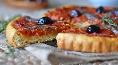 Pichade de Menton (Pissaladière aux tomates) | Le Blog cuisine de Samar